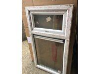PVC window with double glazing