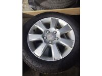 Seat Leon alloys 205/55/ 16 inch. Four great tyres