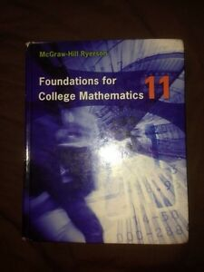 Grade 11 Foundations for College Mathematics Textbook