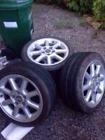 Four 16 inch ASA rims (5x110) with tires