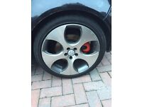"""5x100 18"""" golf GTI Monza alloys with tyres"""