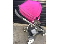 Stokke Crusi pushchair, baby wedge, mosquito net & raincover, quick sale. Can deliver locally.