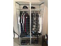Metal cage wardrobe