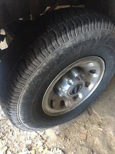 """16"""" winter rims & tires 235/85R16 Oakville / Halton Region Toronto (GTA) image 1"""