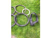 "Assortment of bike tyres 20"" 24"" 26"" 28"" road dirt jump DH"
