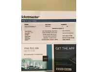 2 Rod Stewart tickets face value