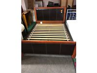Solid metal king size bed