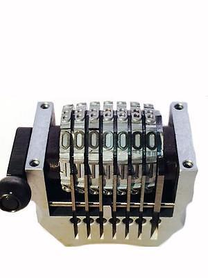 Multilith Ryobi Hamada Numbering Machine 7 Digit Convex Backwards Offset Parts