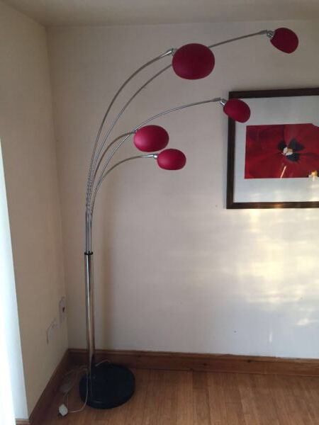 Dana Lounge 5 Arm Arc Floor Lamp With Marble Base | in Pontefract ...