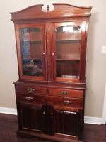 Beautiful wood china cabinet
