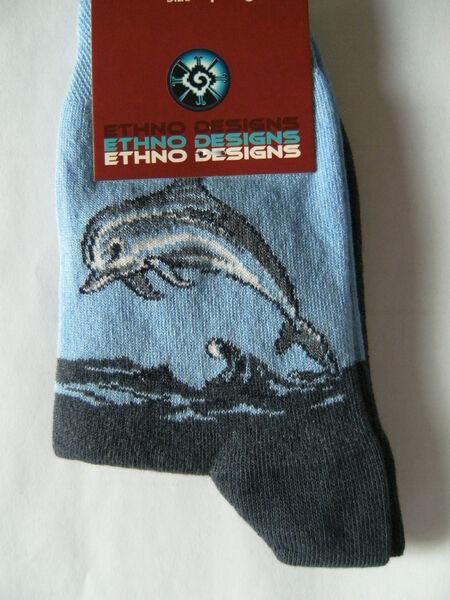 Socken Delfin Delphin Strümpfe Tier Tiere Delfine Delphine Fisch Fische Socke NW