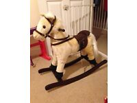 Rocking horse with neighing noises - excellent condition