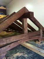 Gazébo en bois massif de style timberframe sur mesure