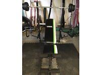 Weight bench York multi workout
