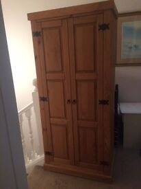 Real wood wardrobe
