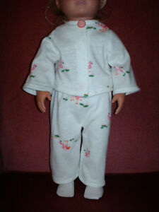 American Girl-Sized Doll Clothes Flamingo PJs