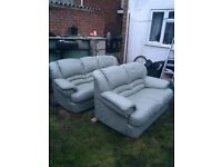 Really Leather sofas, two and three seater