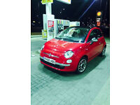 FIAT 500 RED LEATHER SEATS , IDEAL FIRST CAR OWNED BY FEMALE DRIVER 10 REG FOR 3999