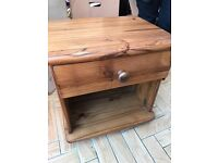 Antique Pine Bedside Table