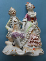 Porcelain Young Couple Figurine