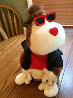 Valentines Love Dog Stuffed Battery operated Animal gift