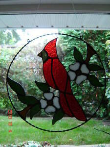 Stained Glass Red Cardinal ring Kingston Kingston Area image 1