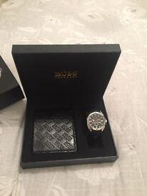 💙 MENS HUGO BOSS WATCH AND WALLET SET 💙