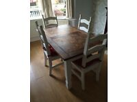 Dining table 6 chairs 3ftx5ft