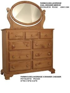Rockwood Furniture Farmhouse 9 Drawer Dresser with Mirror