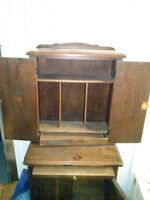 Antique Telephone/ writing Table - revised price!