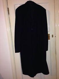 Long length men's coat