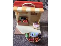 Sylvianian family shop and juice bar with rabbit