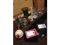 Job Lot Glassware, Frames, Vases, Kettle and Cup Can Deliver Locally for £5