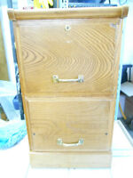 2 drawer wood file cabinet or Night Stand  REDUCED