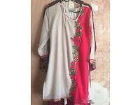 Kaftan dress with dupatta