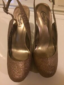 Sparkly Gold Sling Back CANDIE'S Heels