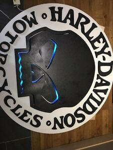 Harley Davidson sign custom huge