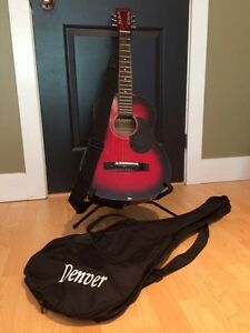 Denver guitar with case and stand