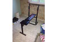 York fitness folding gym bench