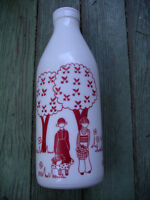 Funky Milk Glass Bottles