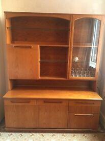 G-Plan 1970s drinks display cabinet