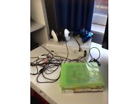 Xbox 360 console, headset, controller and games