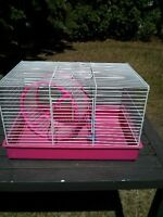 hamster / small animal cage and wheel
