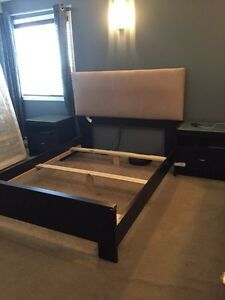 Queen bed frame, night stands and chest