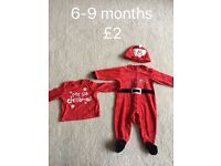 Christmas outfit age 6-9 months