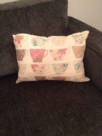 Laura Ashley teacup cushion