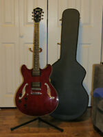 Left Handed Ibanez Artcore AS73 MINT condition + hardsell case