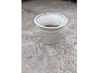 Large White Ceramic Pot