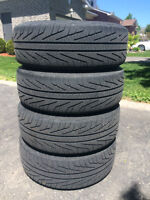 "Set of 4 Michelin Hydroedge 185/65/R14 tires on 14"" wheels 4X100"
