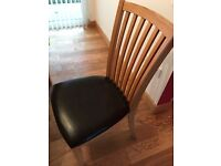 WANTER Solid oak dining room chairs